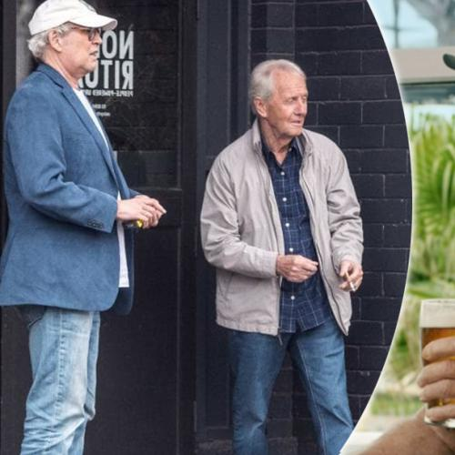 Chevy Chase And Paul Hogan Spotted In Brunswick