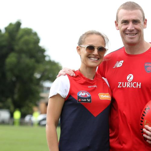 Why Was Natalie Portman At The Demons' Training Session?