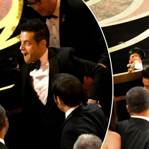 Rami Malek Falls Off Stage Following 'Best Actor' Win