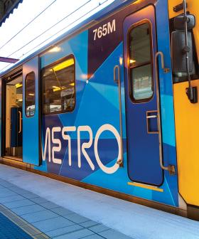 Melbourne Train Becomes A NSFW Slip-And-Slide
