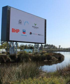 Perth Scores Giant TV Worth $2.5 Million Outside Stadium