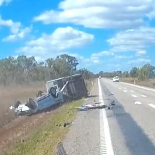 Aussie Couple Survive Frightening Caravan And 4WD Rollover