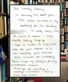 'I'm Really Sorry': Library Book Returned 25 Years Late With Apology Note