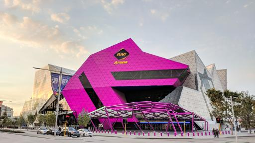 Why is Perth Arena going to turn pink?