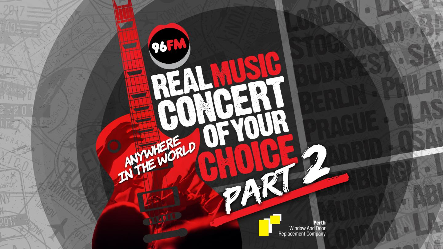 We've got our winner for 96FM's Real Music Concert of Your Choice Part 2!