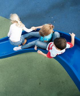Parents Furious After Shirtless Man Blasts Music, Uses Kid's Play Equipment To Exercise