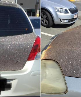 Aussie Driver Uses Kmart Glitter Contact To 'Pimp' Their Car
