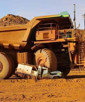 Massive Haul Truck Absolutely Flattens Ute At WA Minesite