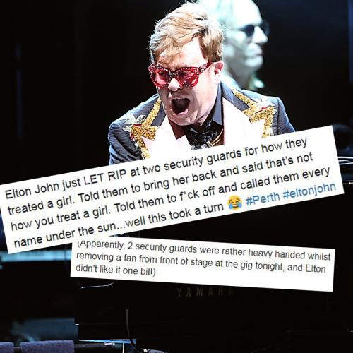 Elton John Stops Perth Gig To Unleash Tirade On Security Guards Removing Fan