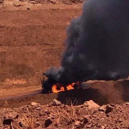 Rio Tinto Haul Truck Catches Fire At WA Minesite
