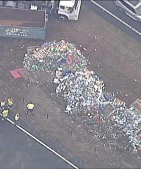 Aussie Semi-Trailer Loaded With Beer Crashes