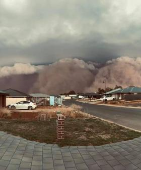Jaws Drop Over Dust And Thunderstorms Hitting Central NSW