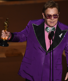 Elton John Accepts His Second Oscar For Rocketman