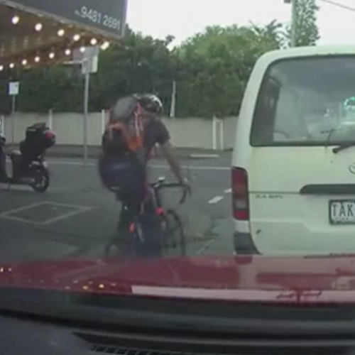 Collision Between Bike & Car In Australia Has Divided The Public