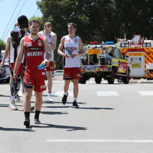 Fire Forces Perth Wildcats To Evacuate Training Session