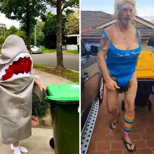 There's An Aussie Facebook Group Devoted To Getting Dressed Up To Take The Bin Out