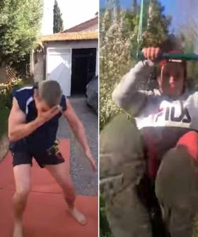 Quarantined Stunt Professionals Go Viral In Epic 'Fight' Video