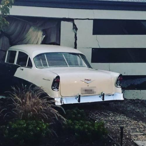 Vintage Chevy Ends Up Inside House In Burns Beach