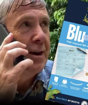 Why Glenn Robbins Couldn't Do Kath & Kim-Inspired COVIDSafe app Promo Without Blu Tack