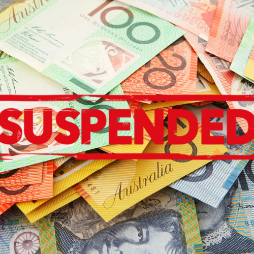 The Early Superannuation Release Announced By The Government Has Been Suspended