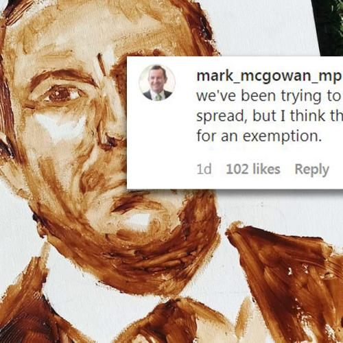 WA Premier Immortalised In Vegemite Portrait, Drops Deadpan Remark On Artist's Insta