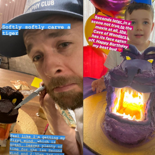 Hamish Blake Made His Son An Aladdin-Themed Birthday Cake & It Took 7 Damn Hours