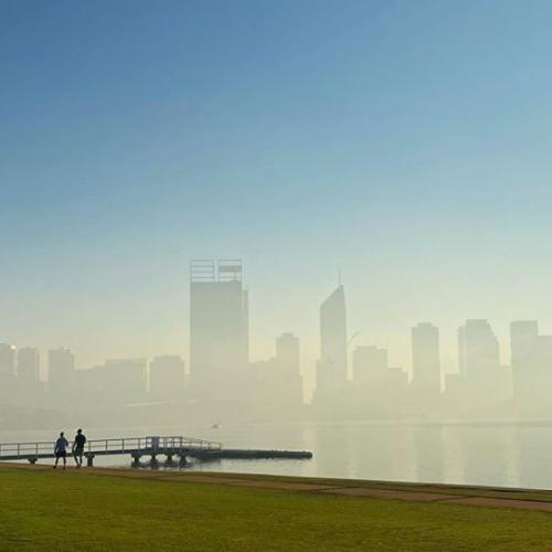 Perth Looked Something Out Of A Deep Purple Song As Haze Lingered