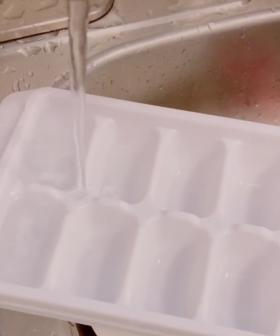 Apparently We've All Been Filling Ice Trays Wrong This Whole Time!