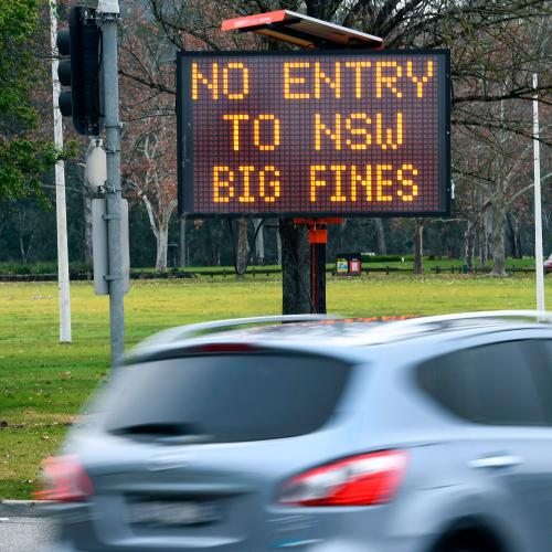 Four Kilometre Long Queues Of Victorians Trying To Enter NSW