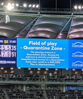 Optus Stadium 'Streaker' Facing Two-Week Quarantine And MASSIVE Fine