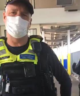 Melbourne Anti-Masker Confronts Officers, Proves There's Male Karens Out There Too