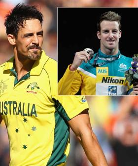 Why Cricketer Mitchell Johnson Had To 'Baby-Carry' Olympian James Magnussen
