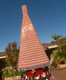 Perth's 'Mad Bogan' Has Once Again Built A Massive Bush Chook Christmas Tree