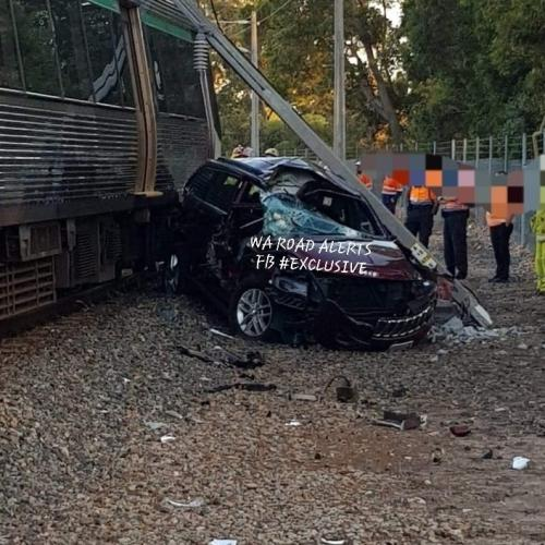 Train Ploughs Into Car Left On Tracks In Maddington, Causes Traffic Mayhem