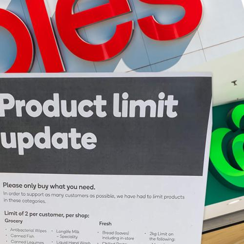 Coles & Woolies Bring Back Purchase Limits Across WA Stores