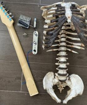 This Guy Built A Functioning Guitar Using His Dead Uncle's Skeleton