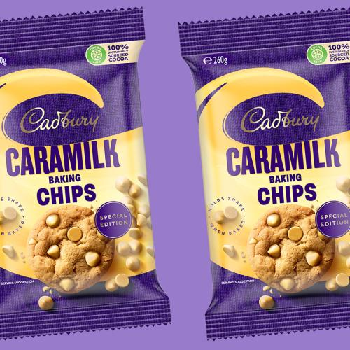 Cadbury Release Caramilk Baking Chips... But We're Just Going To Eat Them Out Of The Bag, Yeah?