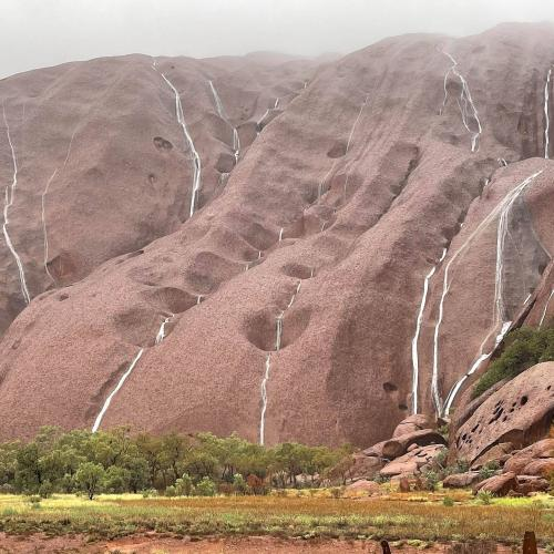 'Only A Lucky Few Get To See It': Waterfalls Form All Over Uluru