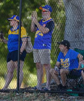 About 150 AFL Fans Watched The Pre-Season Derby Through The Fence