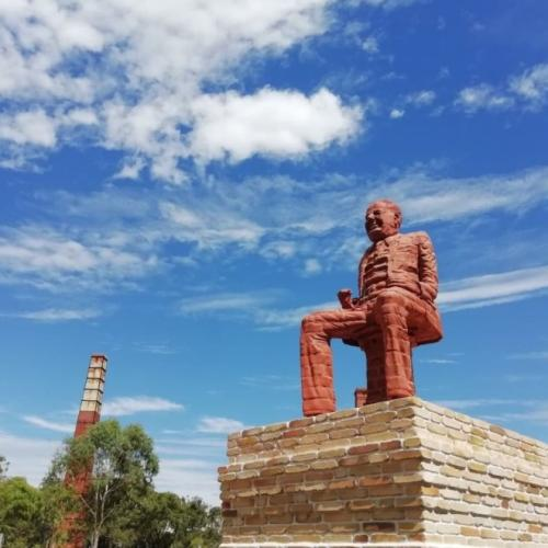 Perth's Mystery 'Brick Man' Statue At Ascot Kilns To Remain
