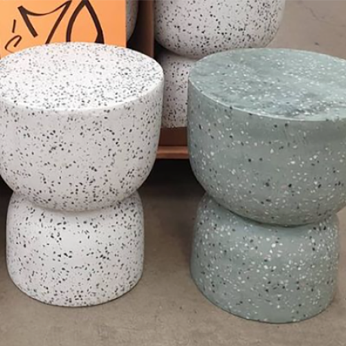 You Can Now Snap-Up Terazzo-Style Ceramic Stools At Bunnings For $79