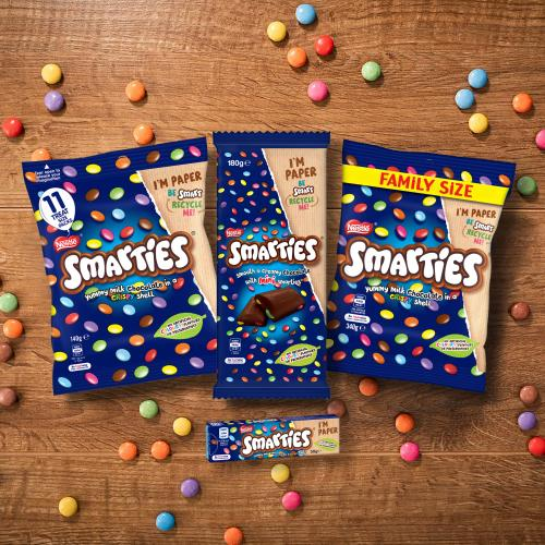 Smarties Become First Confectionary To Have Fully-Recyclable Packaging