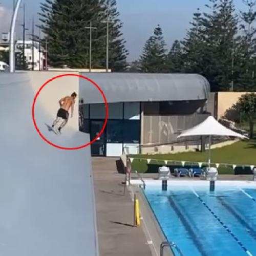 Council Chasing Bloke Who Took A Dive Into Scarborough Pool From Roof