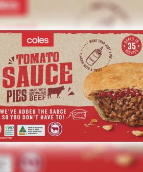 Coles Are Now Slinging Meat Pies With The Sauce Baked Into It