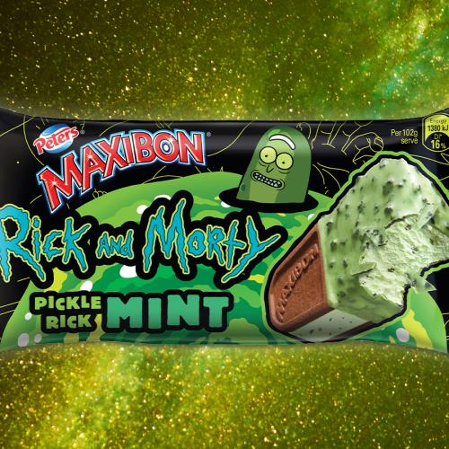 Maxibon's Teamed Up With 'Rick & Morty' To Create The Pickle Rick Mint Maxibon!