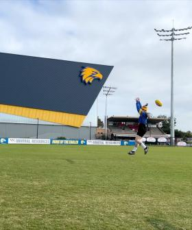 Footyball class 101. Jon went to train at West Coast with Elliot Yeo
