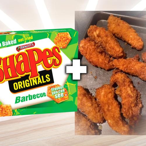 This Aussie Genius Has Just Gone Viral For Crumbing Chicken Breast In BBQ Shapes!