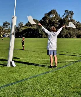Docker David Mundy Wakes Up After 27-Point AFL Win To Goal-Ump At Son's Match