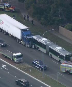 Truck Hits Transperth Bus Carrying School Students In Booragoon