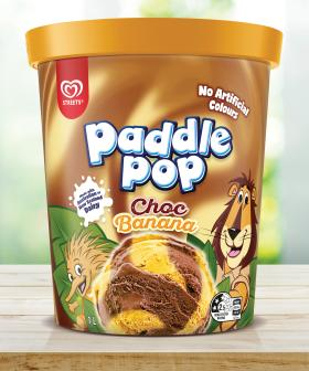 Paddle Pop Have Now Released A Choc Banana Swirl Ice Cream In A Tub!